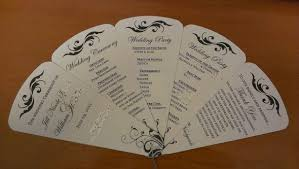 Fan Wedding Program Template Please Critique Our Diy Program Petal Fans Weddingbee