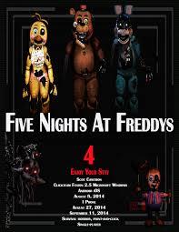 five nights at freddy u0027s 4 movie poster by gizzirad on deviantart