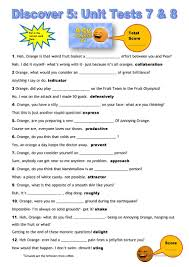 7 free esl oxford discover 5 vocabulary test worksheets