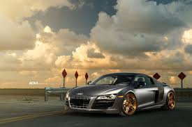 audi r8 gold bold audi r8 with gold adv 1 custom wheels u2014 carid com gallery