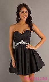 klshort black dresses strapless alyce designs party dress promgirl