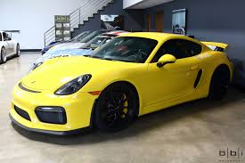 Racing Yellow Porsche Cayman Gt4 Full Bbi Suspension Roll Bar
