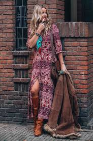 bohemian fashion bohemian maxi dress with print for the ultimate hippie chic look