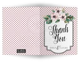 personalized thank you cards personalized thank you cards retro polka dots flowers
