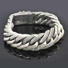 link bracelet silver images Silver cuban link bracelet with pave diamonds ancient coin jpg&a