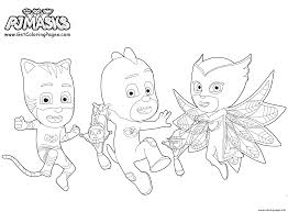 printable pj masks party coloring pages printable