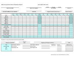 10 best images of free employee attendance forms templates