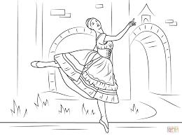 ballet shoe coloring sheet alltoys for