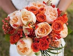 wedding flowers for october popular october wedding flowers with purple and orange fall