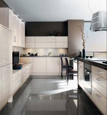Black And White Kitchen Kitchen Design Decorating by Cabinet Kitchen With Black Floor Tiles White And Black Tiles For