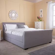 Mattress Next Day Delivery Bedmaster by Gfw Hannover Upholstered Bed Frame In Silver U2013 Next Day Delivery