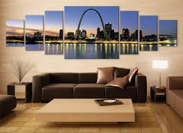Modern Wall Art Illinois Cityscape Canvas Art Multi Panel Print Modern Art Wall