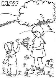 month springtime coloring download u0026 print
