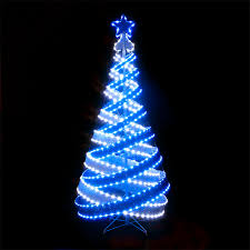 green spiral lighted tree spiral christmas trees happy holidays