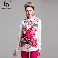 plus size blouse 2017 flower floral print shirt summer plus size blouse