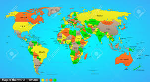 India On A World Map by World Map With Countries World Map