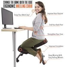 edge ergonomic kneeling chair accessories stand steady