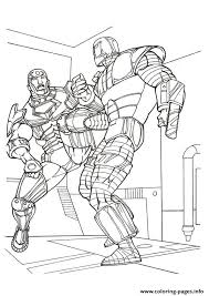 marvel coloring pages printable iron man in combat a4 avengers marvel coloring pages printable