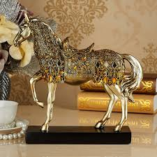 Decorative Sculptures For The Home Http Www Aliexpress Store Product Golden Figure Animal