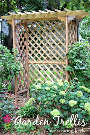 while wearing heels diy garden trellis