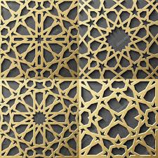 islamic pattern set of 4 ornaments seamless arabic geometric