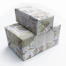 gray wrapping paper classic world map wrapping paper by maps international