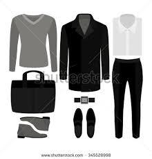 men set set trendy mens clothes stock vector 345528998