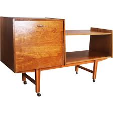mid century sideboard shelf unit for vinylrecord deck 1960s