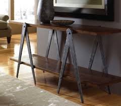 hand forged steel sawhorse table legs sofa table base custom