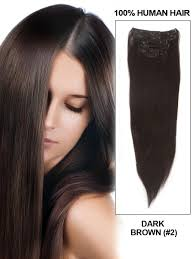 100 human hair extensions clip in hair extensions 18 silky brown 2 clip