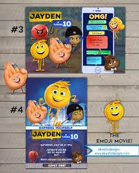caillou birthday invitations the emoji movie birthday invitation printable