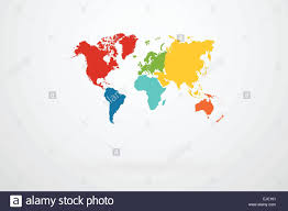 World Map Vector World Map Vector With Continent Border In Retro Color Palette