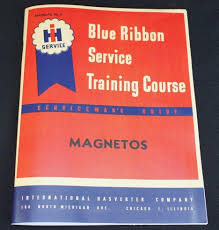 ih only farmall magneto service manual blue ribbon service manual