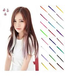 anime hair accessories 3 pcs hair clip colorful synthetic in extension on