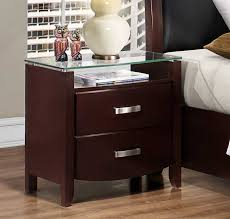 Night Tables Homelegance Lyric Night Stand Glass Top Dark Espresso 1737nc 4