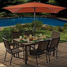 Rectangular Patio Tables 11 Foot Rectangular Aluminum Solar Patio Umbrella Bed Bath U0026 Beyond