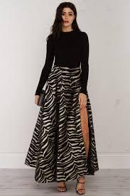black maxi skirt with slit high slit maxi skirt in black gold