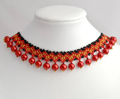 handmade bead necklace designs images Free pattern for beaded necklace rowanberry beads magic jpg