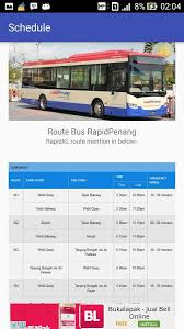 jadwal bus rapid penang android apps on google play