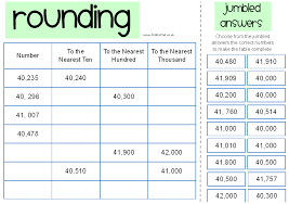 lesson plans rounding to the nearest ten hundred thousand