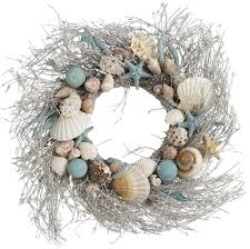 pier one home decor home decoration beautiful seashell wreath ideas for appealing