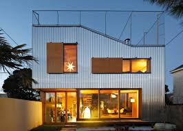 top home design 2016 cool french house with corrugated aluminium facade and roof top