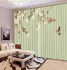 2017 curtain styles for bedrooms flower bird custom curtains
