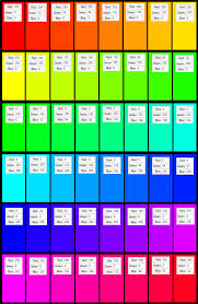 rgb color chart resume templates