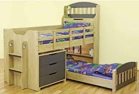 Midi Bed With Desk Single Toby Cabin Midi Sleeper Bunk Bed With 3 Drawer Chest