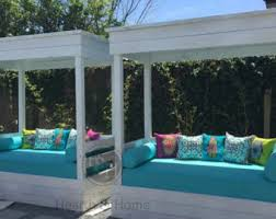Patio Bench Cushion by Outdoor Bench Etsy