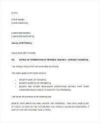 letter of notice to tenant vacate property uk letter idea 2018