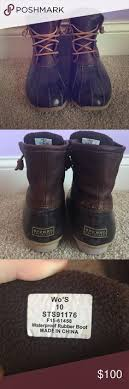 womens sperry duck boots size 11 s sperry duck boots sperry shoes boot and