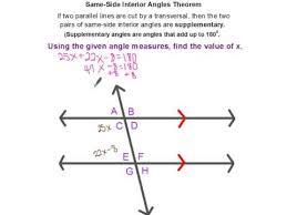 Same Side Interior Angles Postulate Angle Pair Theorems Youtube