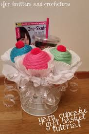 cupcake gift baskets cupcake crochet gift basket tutorial dandelion bouquets